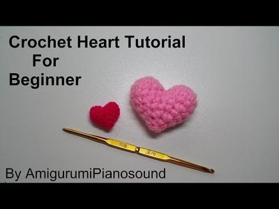 Crochet Heart Tutorial for Beginner