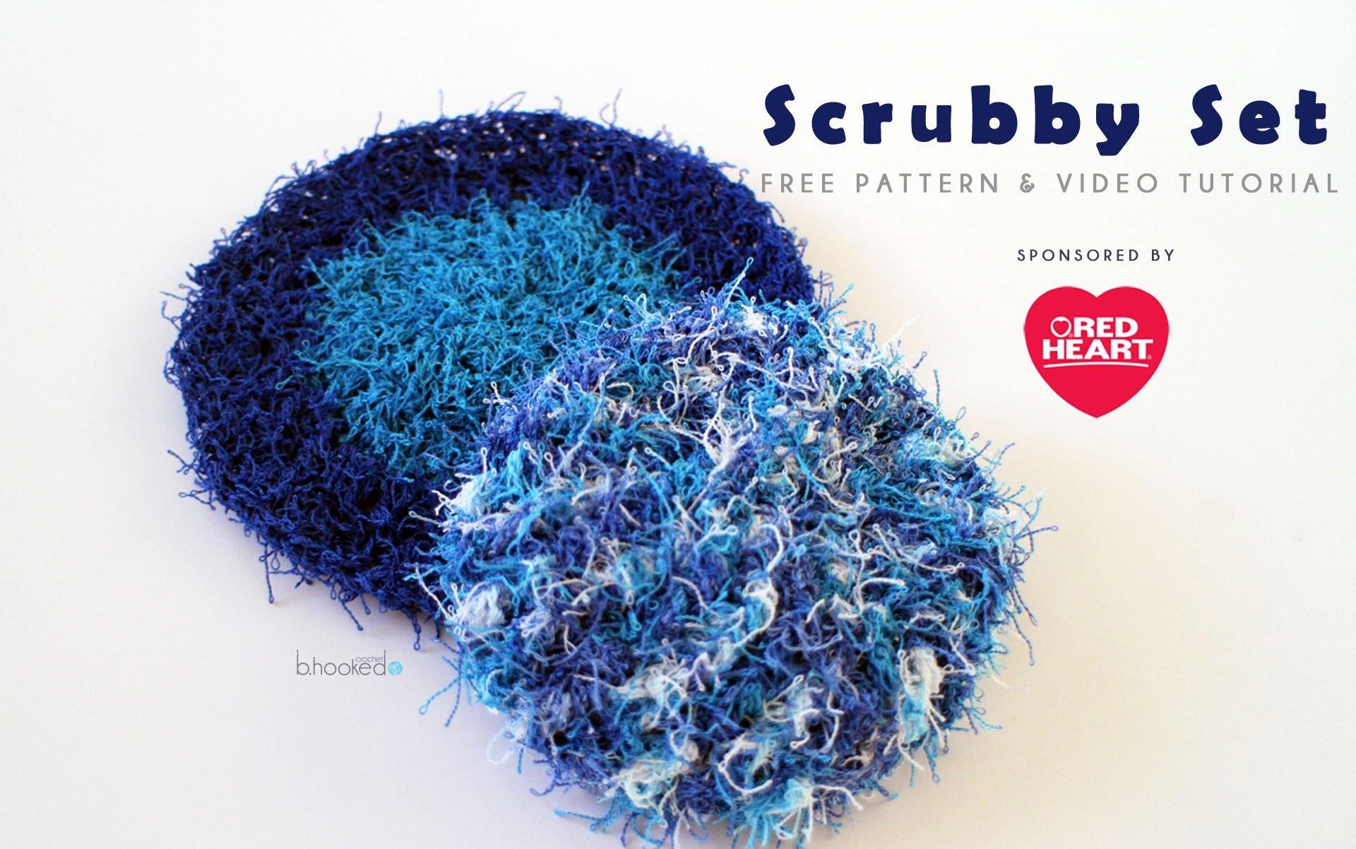 Crochet Scrubby Set Left Handed Red Heart Scrubby