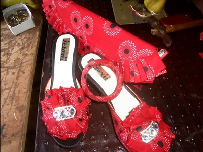 D I Y Ankara shoe and purse making slide