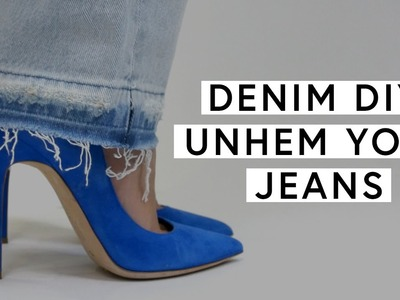 Denim DIY: How To Unhem Your Jeans | The Zoe Report by Rachel Zoe