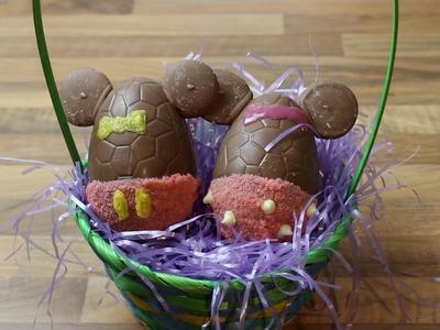 DISNEY How to Make Chocolate Mickey & Minnie Easter Eggs | DIY | KRISPY SMORE