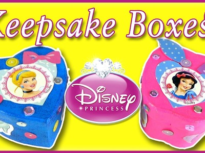 Disney Princess Arts and Crafts | DIY Keepsake Boxes