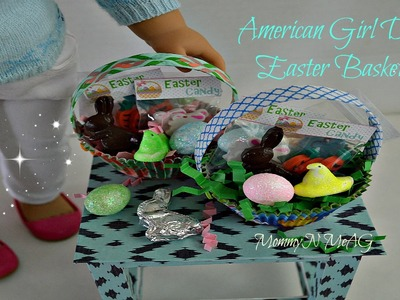"DIY American Girl Doll  EASTER BASKET | How to make a 18"" Doll Easter Basket Tutorial"