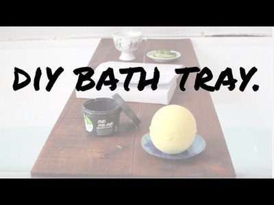 DIY bath tray.caddy  [Easy+fast]  Recycled wood.