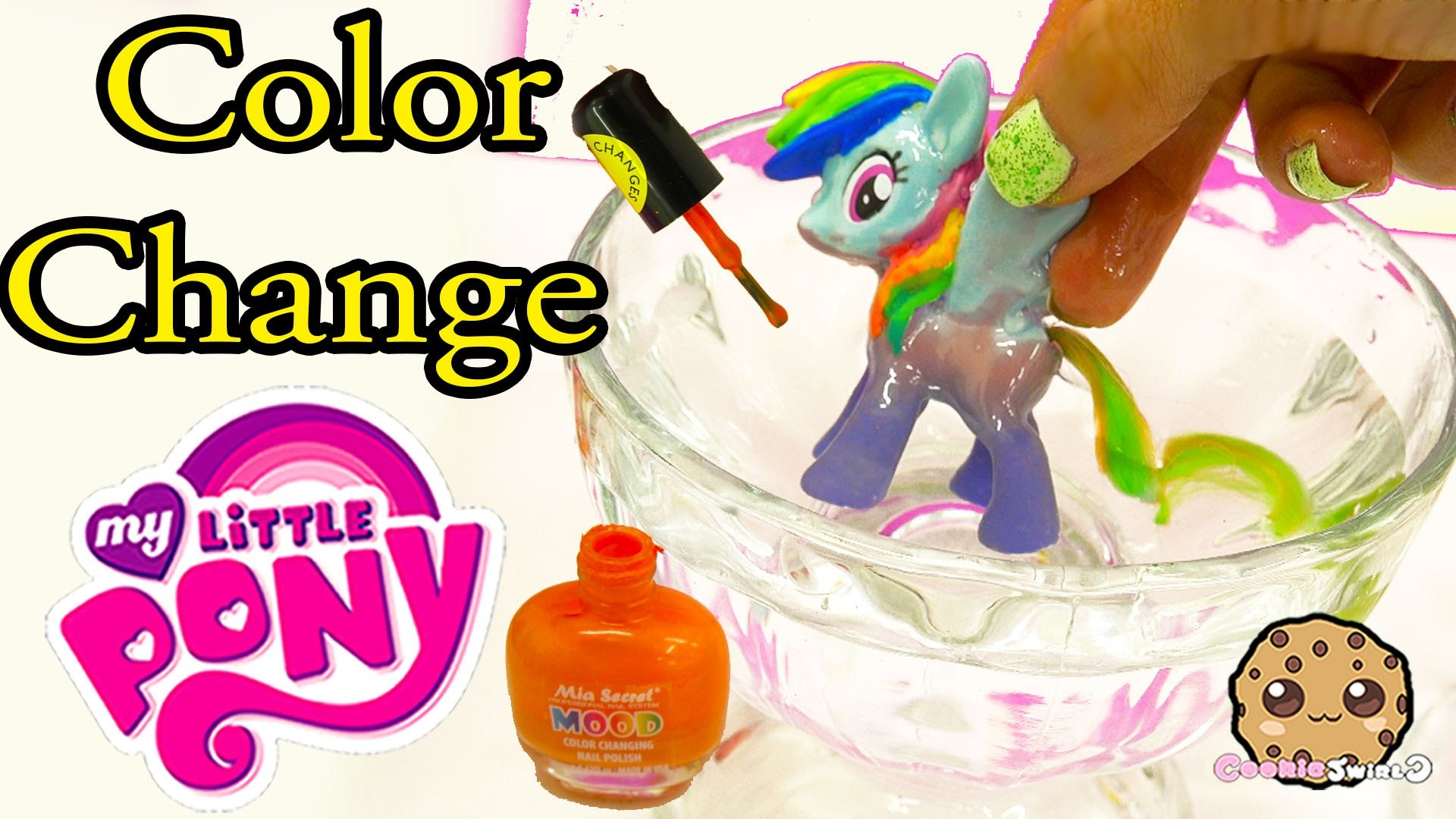 DIY Color Change Mcdonalds Rainbow Dash My Little Pony Nail Polish Painting Craft Video