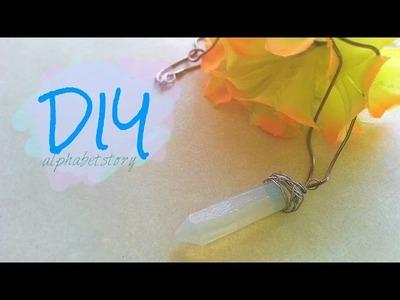 DIY: Crystal Gemstone Necklace.Accessory | alphabetstory