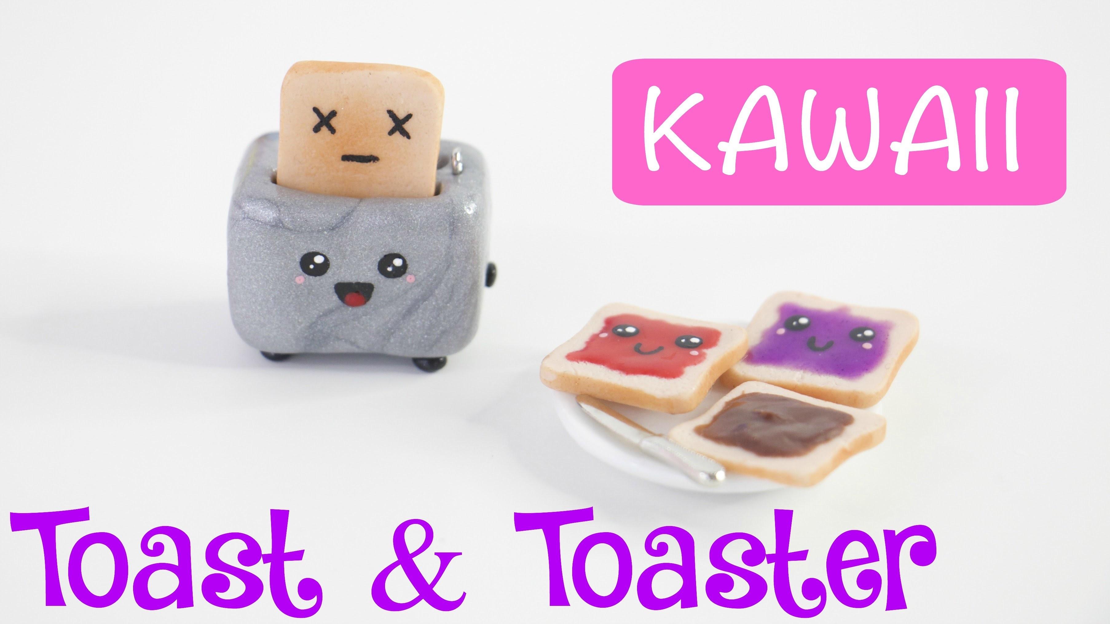 DIY CUTE Miniature Toast & Toaster Charm.Keychain