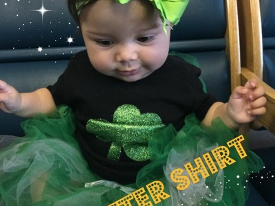 DIY Glitter Shirt   St. Patricks Day