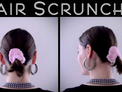 DIY Hair Scrunchie Crochet Tutorial