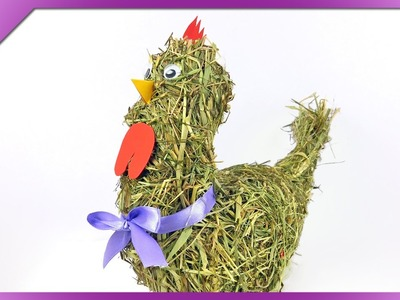 DIY Hay Easter  chicken (ENG Subtitles) - Speed up #192
