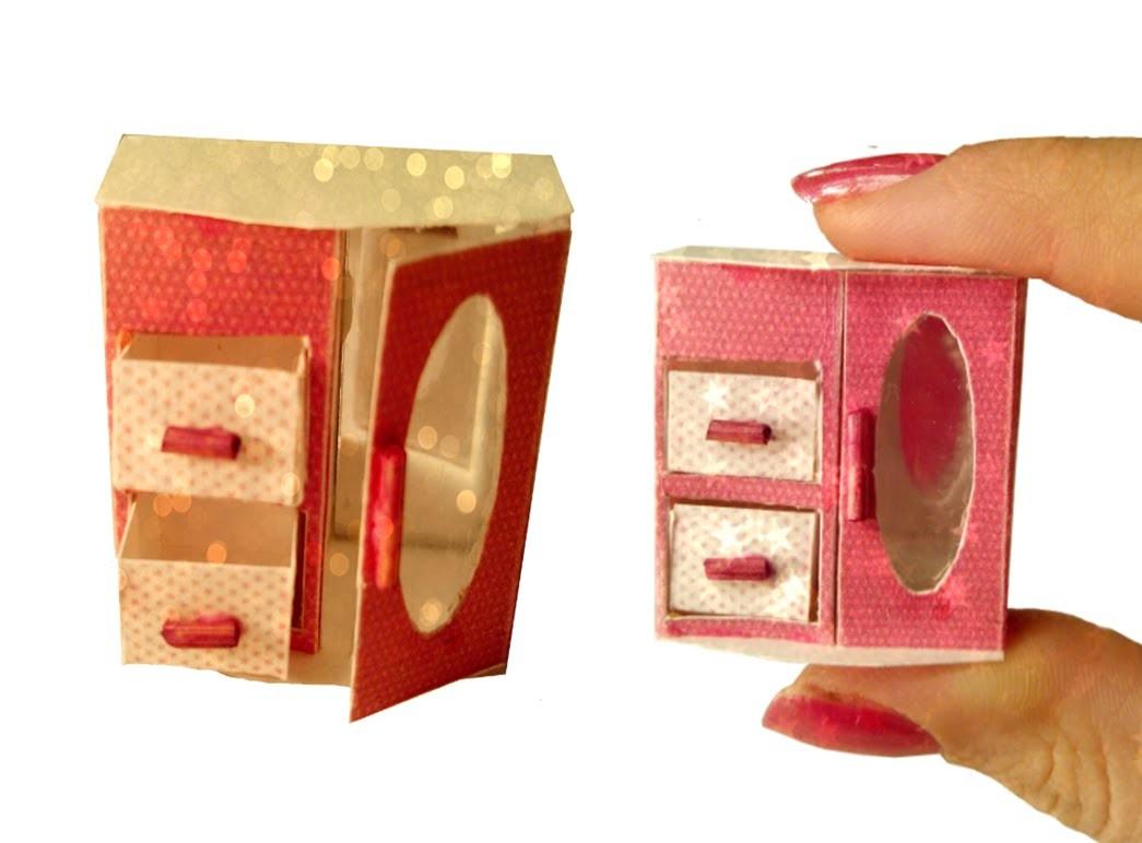 DIY Miniature Jewelry Box for Dollhouse TUTORIAL - Crafts