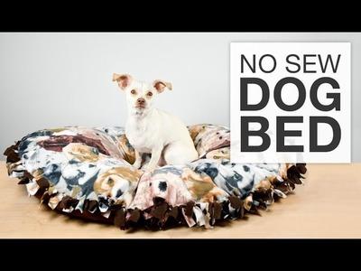 DIY No Sew Fleece Dog Bed Tutorial