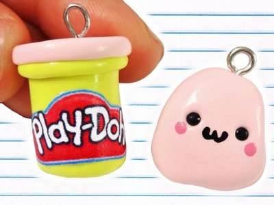 DIY Play Doh Charms! EASY Kawaii Polymer Clay Charms