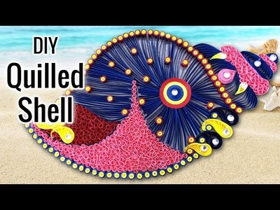 DIY Room Decor Idea with Quilled Shell | DIY Projects for Home Decoration