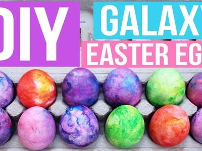 DIY SHAVING CREAM GALAXY EASTER EGGS | PINTEREST INSPIRED