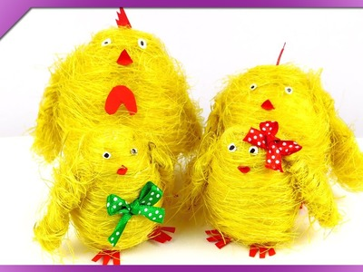 DIY Sisal chickens family (ENG Subtitles) - Speed up #196