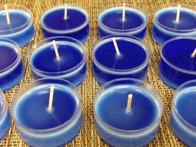 DIY Tea Light Candle Making