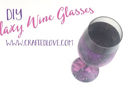 DIY Wine Glass Painting - Easy Galaxy Tutorial