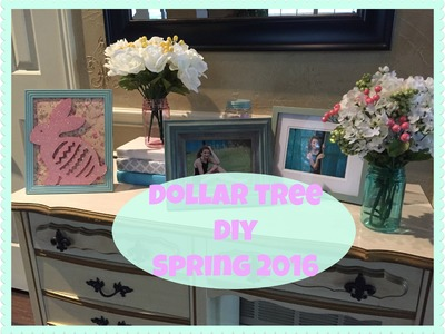 DOLLAR TREE Spring Decor DIY | Bunny Frame & Books | 2016