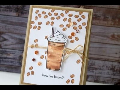 How To Blend A Coffee Drink Stamp with Copic Markers