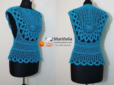 How to crochet easy mint top all sizes free pattern tutorial by marifu6a