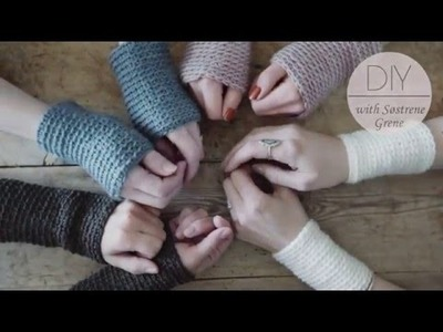 How to crochet for beginners (wrist warmers) by Søstrene Grene - diy