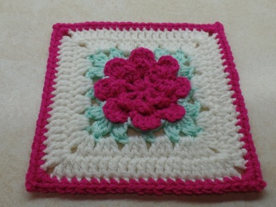 How To #Crochet Rose Flower Granny Square Revised in HD #TUTORIAL #303