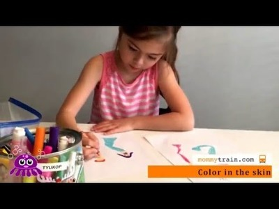 How to Draw a Mermaid.Merman by Sophie