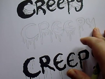 How To Draw Creepy Letters