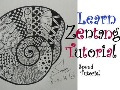 How To Draw Easy Zentangle Art Design For Beginners, Easy Tutorial Doodle Drawing Step By Step