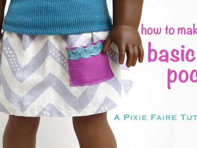 How To Make a Basic Pocket For Your Doll's Skirt