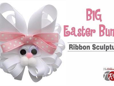 How to Make a Big Easter Bunny Ribbon Sculpture - TheRibbonRetreat.com