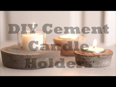 HOW To make a Cement Candle Holder