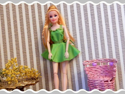 HOW TO MAKE a  dress for Barbie doll clothes for dolls