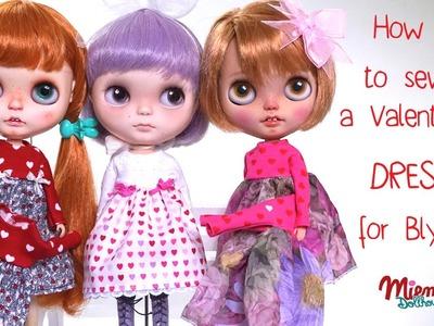 How to make a dress for Blythe dolls. Wie näht man ein Kleid für Blythe Puppen