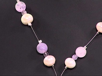 How to Make a Necklace using Pearl and Amethyst Gemstones