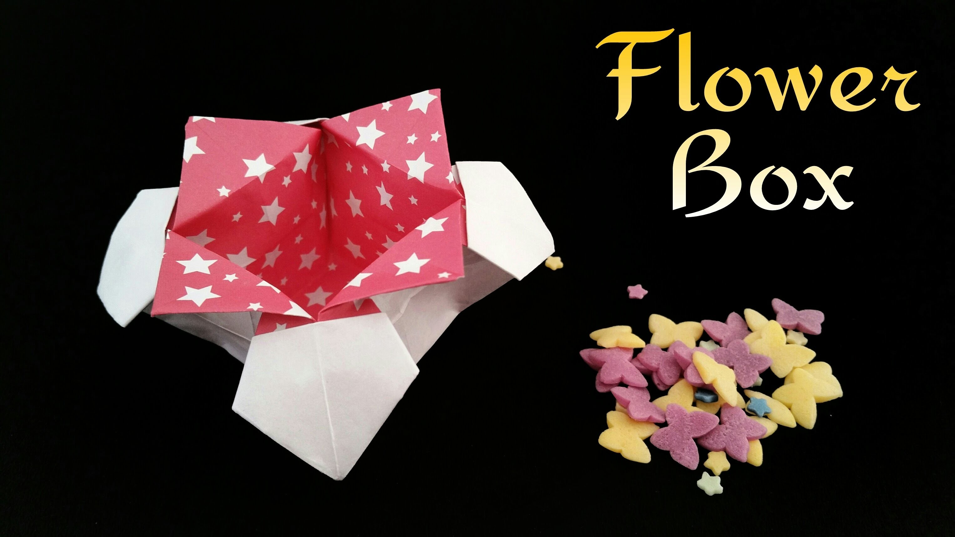 """How to make a paper """"Flower Box"""" - Useful Origami tutorial"""