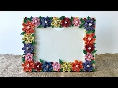 How to make a paper photo frame