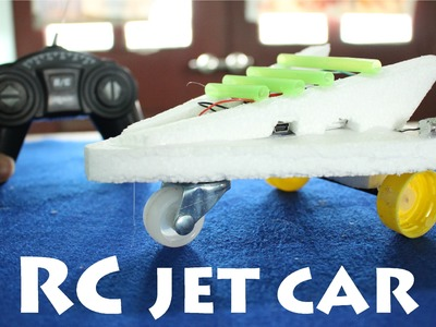 How to make a Remote Control Jet Powered Car | RC Toy