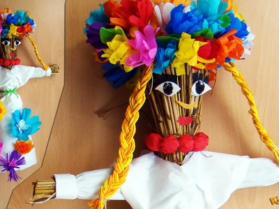 How to make a Straw Doll? DIY