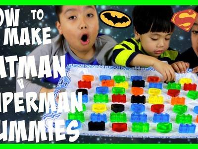 How to Make BATMAN v SUPERMAN Dawn of Justice JELLO GUMMY CANDIES! Kids Video