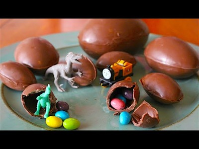 How To Make Chocolate Kinder Eggs - Surprise Easter Eggs!