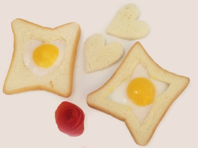 How to make egg in a hole - Heart eggs