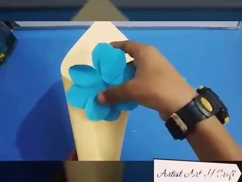 How to make :Flower Cone Pot
