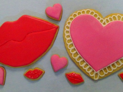 How to make giant heart and lips cookies