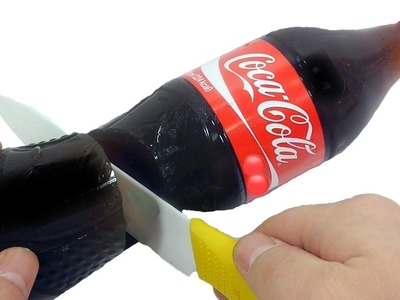 How to Make Gummy Coca Cola Bottle Shape Jelly Dessert Easy DIY Gummy Soda