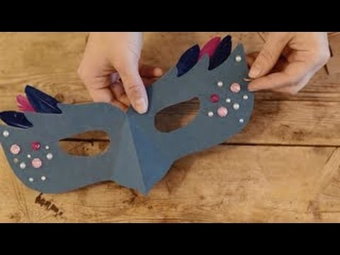 How To Make Paper Masquerade Mask