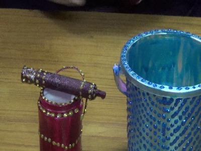 How to make Pichkari and colour bucket for bal gopal. Ladoo gopal