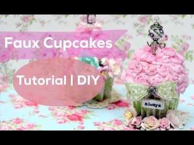 How to make ShabbyChic Cupcakes | DIY | Faux Paper Cupcakes | Tutorial