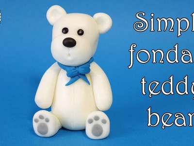 How to make simple fondant teddy bear. Jak zrobić prostą figurkę misia